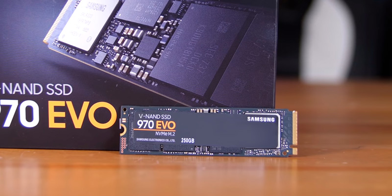 Samsung 970 EVO NVMe PCIe M.2 2280 Internal SSD in the use