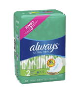 Always 126Pcs Super Absorbency Ultra Thin Feminine Pads with Wings