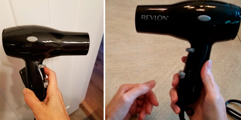 Revlon 1875W Compact And Lightweight Hair Dryer in the use