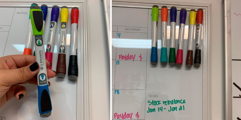 Review of U Brands Dry Erase Markers Low Odor Magnetic Double Ended