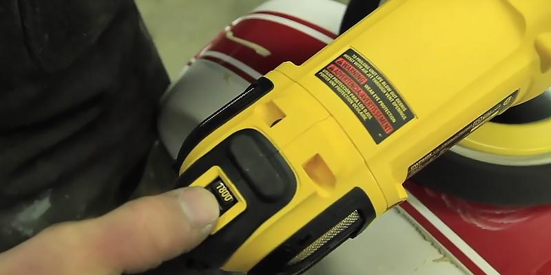 DEWALT DWP849X Variable Speed Polisher with Soft Start in the use