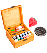 MissLytton Wooden Sewing Box with Sewing Kit Accessories