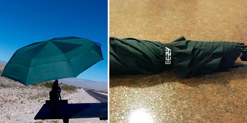 EEZ-Y 58 Inch Portable Golf Windproof Umbrella in the use