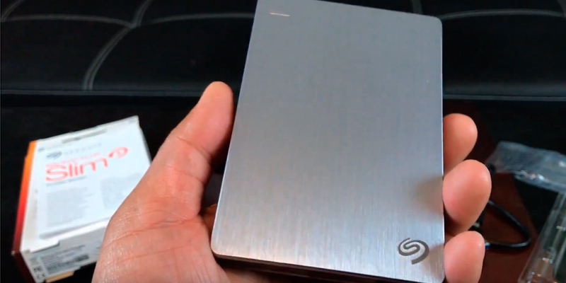 Seagate Backup Plus for Mac Portable External Hard Drive in the use