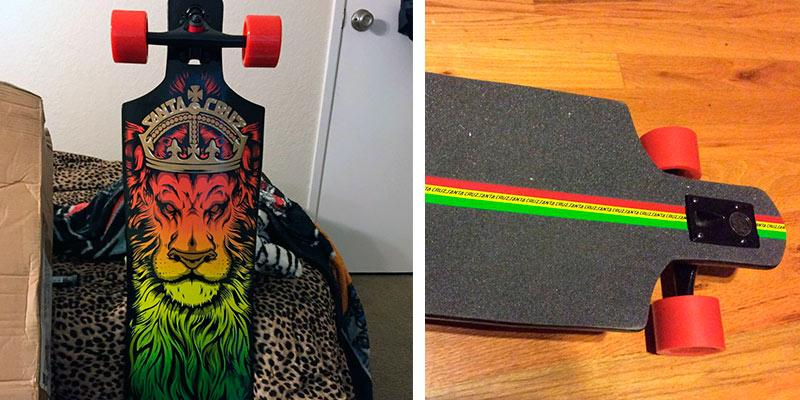 Detailed review of Santa Cruz Lion God Rasta Cruzer Freeride Longboard