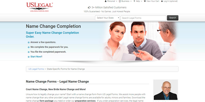 Review of USLegal Legal Name Change