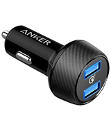 Anker AK-A2228011 39W Dual USB Car Charger with Quick Charge 3.0, PowerDrive Speed 2 for Galaxy S7/S6/Edge/Plus, PowerIQ for iPhone X/8/7/6s/Plus