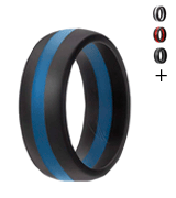 ROQ Wedding Silicone Ring for Men