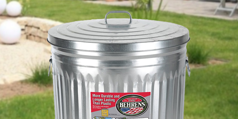 Review of Behrens 1211K Garbage Can With Side Drop Handles