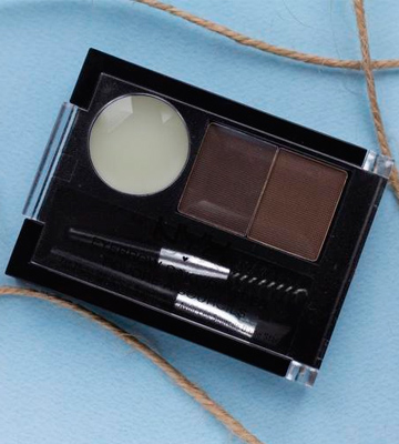 Review of NYX Dark Brown / Brown Eyebrow Cake Powder Kit