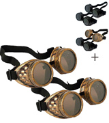 T&B Cosplay Vintage Steampunk Goggles Glasses