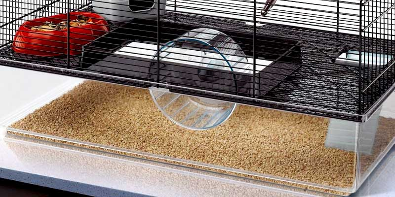 Ferplast FAVOLA Hamster cage with high bottom in the use