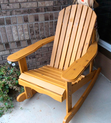 Review of Giantex HW50297 Adirondack Rocking Chair, Natural Fir Wood