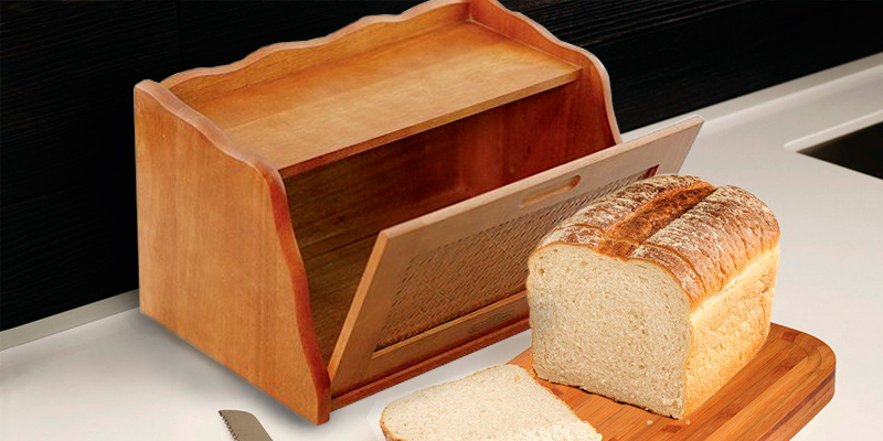 Detailed review of Mountain Woods RBBX Wooden Bread Box & Storage Box