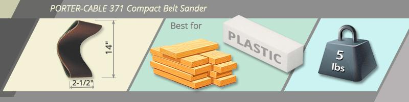 Detailed review of PORTER-CABLE 371 Compact Belt Sander
