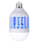 PINSAM Bug Zapper Light Bulb 15W 2 in 1 Mosquito Killer Lamp