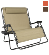 Best Choice Products SKY1879 Folding 2 Person Oversized Zero Gravity Lounge Chair