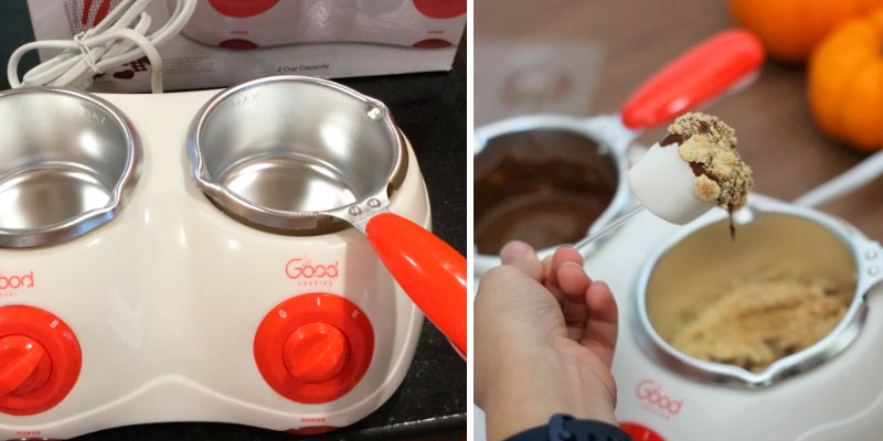 Good Cooking Electric Cheese/Chocolate Fondue Set application