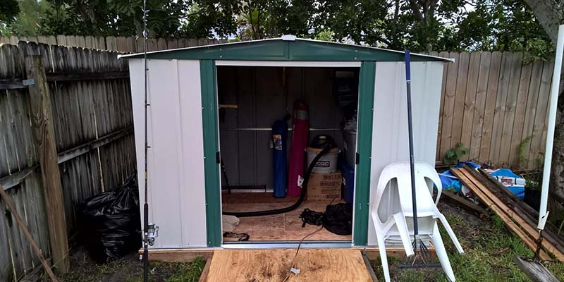 Arrow Sheds HM86 Steel Storage Shed in the use