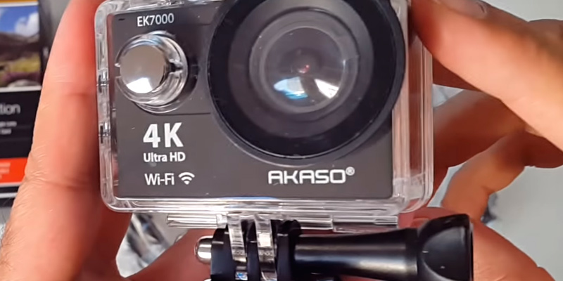 AKASO EK7000 4K Sport Action Camera in the use