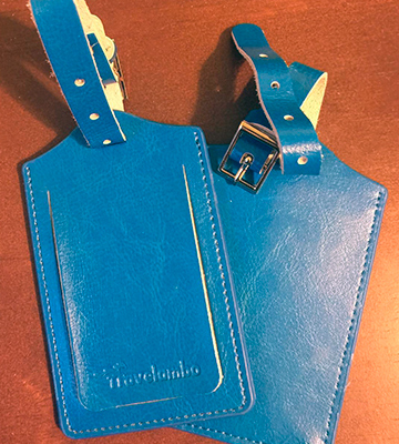 Review of Travelambo Genuine Leather Luggage Bag Tags