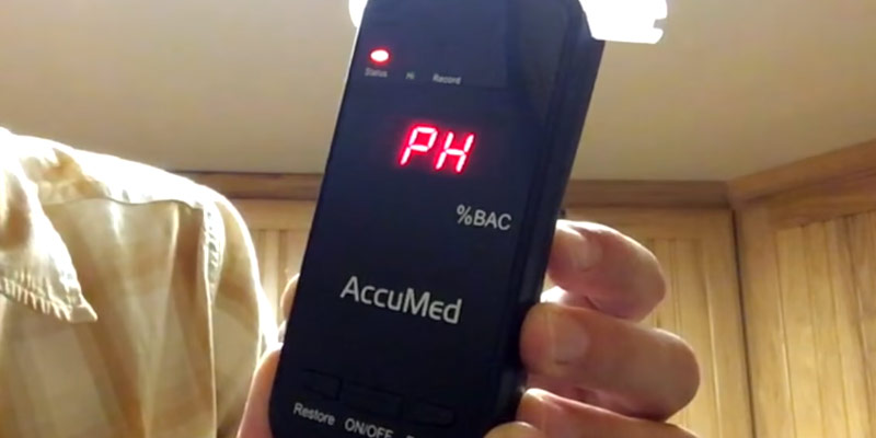 AccuMed BAC-178 Professional Breathalyzer Alcohol Tester in the use
