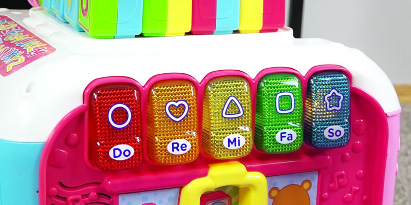VTech Alphabet Activity Cube in the use