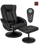 Best Choice Products SKY2891 PU Leather Massage Recliner Ottoman , 5 Heat & Massage Modes