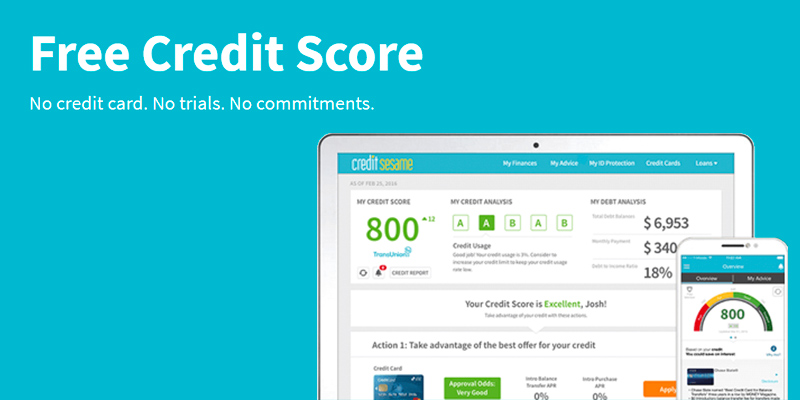 Credit Sesame Credit Report in the use