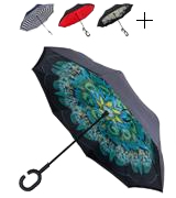 WASING Double Layer Inverted Umbrella for Rain