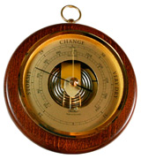 Fischer Instruments 1436R-12 Open Face Wood and Brass Barometer