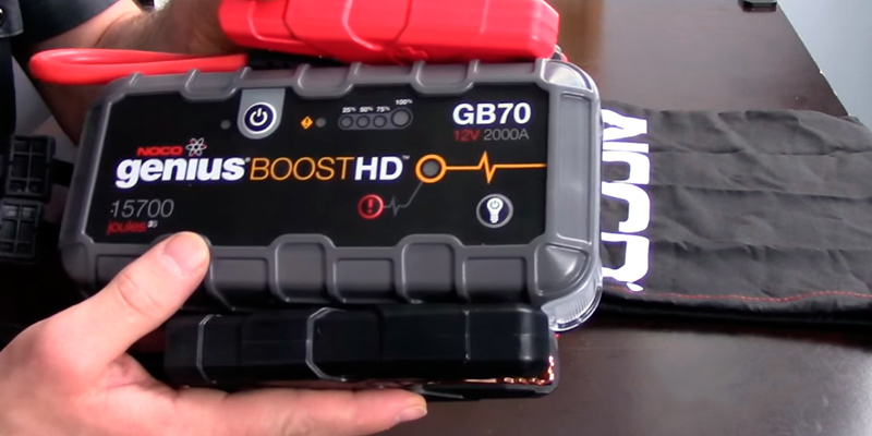 NOCO Genius Boost HD GB70 Jump Starter in the use