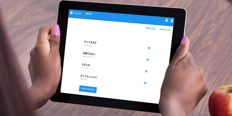 Lingualift Learn Japanese Online in the use