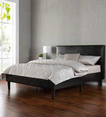 Review of Zinus WSPB-Q Deluxe Faux Leather Upholstered Platform Bed