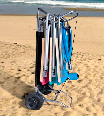 Review of BeachMall Beach Cart with Folding Table
