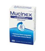 Mucinex Expectorant 12 Hour Chest Congestion Expectorant, Tablets, 100ct