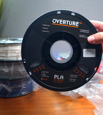 Review of OVERTURE PLA Filament 1.75mm 3D Printer Consumables