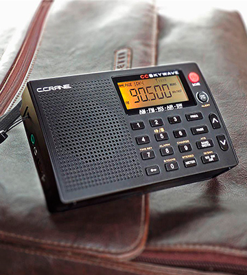 Review of C.Crane FBA_SKWV AM, FM, Shortwave, Weather and Airband Portable Travel Radio with Clock and Alarm