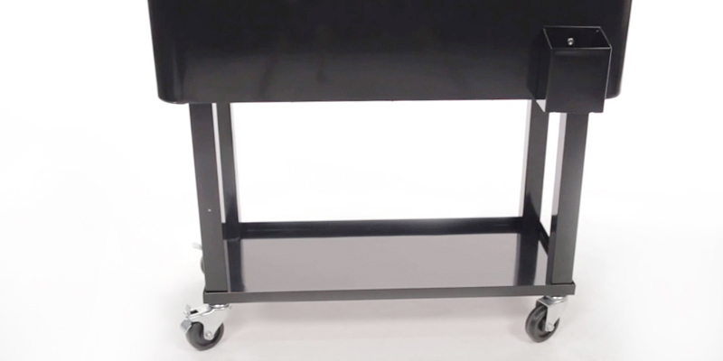 Outsunny Rolling Ice Chest Patio Cooler Cart application