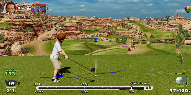 Sony Corporation Everybody's Golf for PlayStation 4 in the use