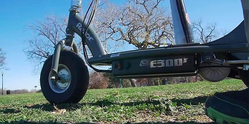 Razor E300S Seated Electric Scooter in the use