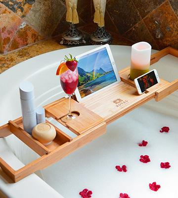 Review of Royal Craft Wood Luxury Bathtub Caddy