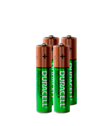 Duracell AAA-Rechx4 Rechargeable Batteries