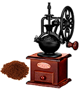 IMAVO Vintage Style Wooden Manual Coffee Grinder