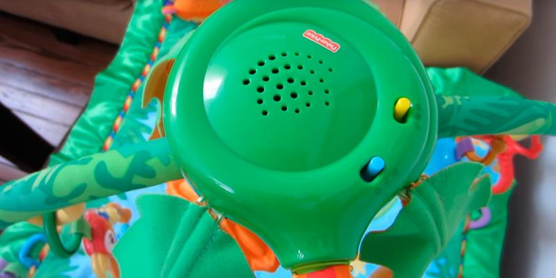 Fisher-Price K4562 Rainforest Melodies and Lights Deluxe Gym in the use
