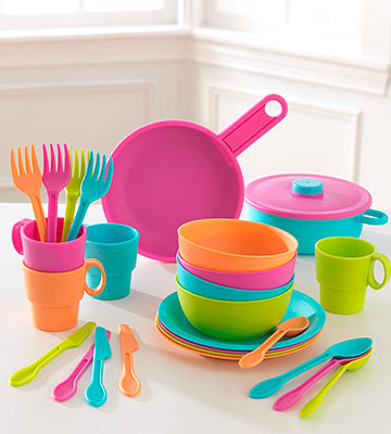 Review of KidKraft Bright Cookware Set