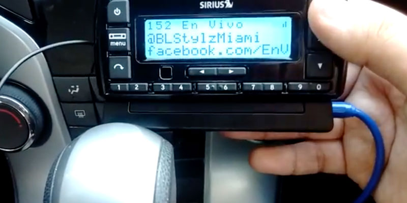 SiriusXM Stratus 7 Satellite Radio in the use