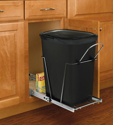 Review of Rubbermaid FG233900WHT Spring Top Wastebasket