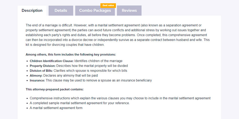 standard settlement instructions example