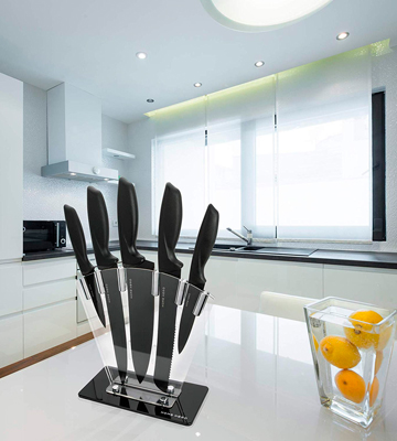 Review of Home Hero 7 Piece Stainless Steel Kitchen Knife Set with Stand